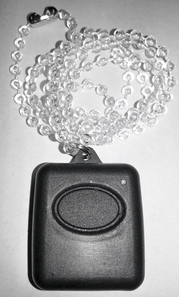 AE 1 channel waterproof pendant transmitter with Beaded Clear chain - Black m- ptoduts