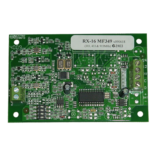 Runner BUS compatible Multi-Function (304, 433, 915MHz) Receiver. Allows all FreeWave, AE/CA & SX wireless transmitters to be learnt directly into zones or users on Runner Panel. m- ptoduts