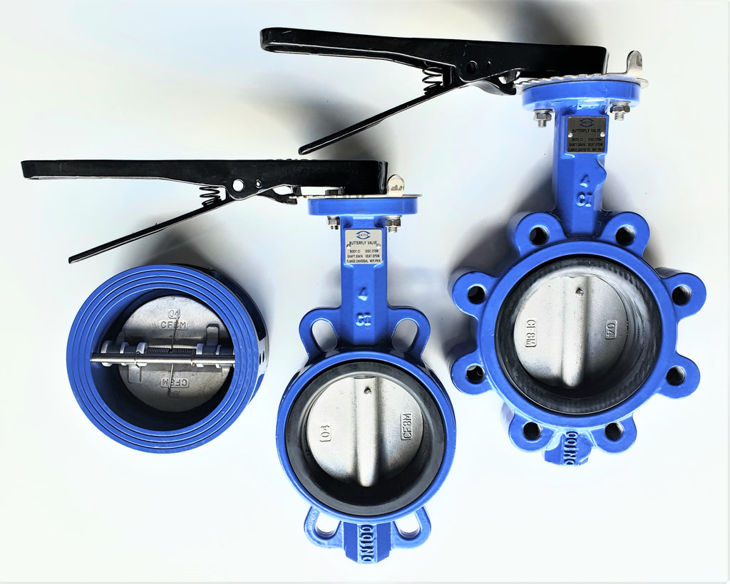 Wafer Type & Lugged Type Butterfly Valve Uses