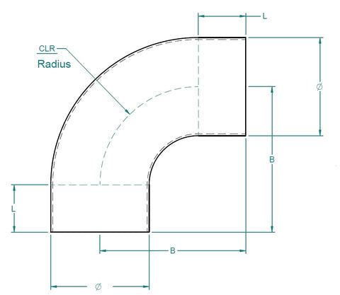 Grade 316 Stainless Steel 90° Short Radius Tube Bends