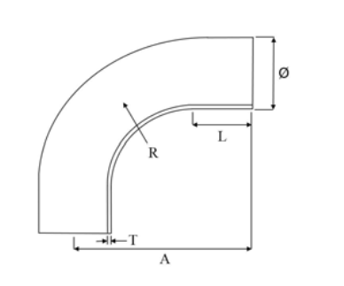 Grade 304 90° Long Radius Tube Elbows
