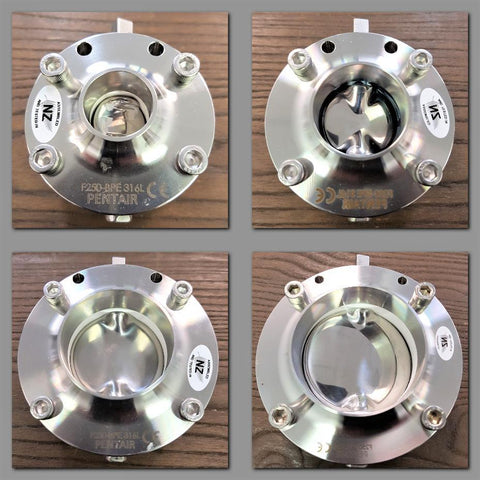 Stattin Stainless Pentair (Keystone) F250 Hygienic Stainless Steel Butterfly Valves