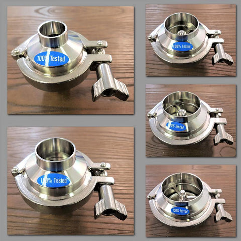 Stattin Stainless Dixon B45MPBB Hygienic Stainless Steel Check Valves
