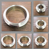 Stattin Stainless Stainless Steel Flat Face BSM Male Parts
