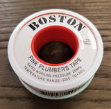 Stattin Stainless Pink PTFE Plumbers Tape Thread Seal Tape