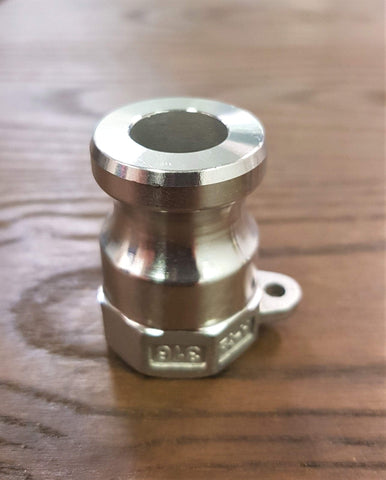 "Stattin Stainless 15 BSP (1/2"") Stainless Steel Type A Camlocks"