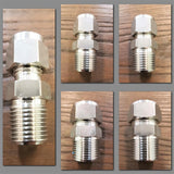Stattin Stainless Stainless Steel Compression Male Connectors
