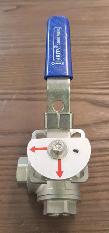 "Stattin Stainless 15 BSP (1/2"") Stainless Steel 3 Way L Port Ball Valves"