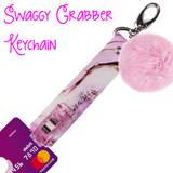 "New! Swaggy Grabber Keychain THE ""PINK RESIN"""