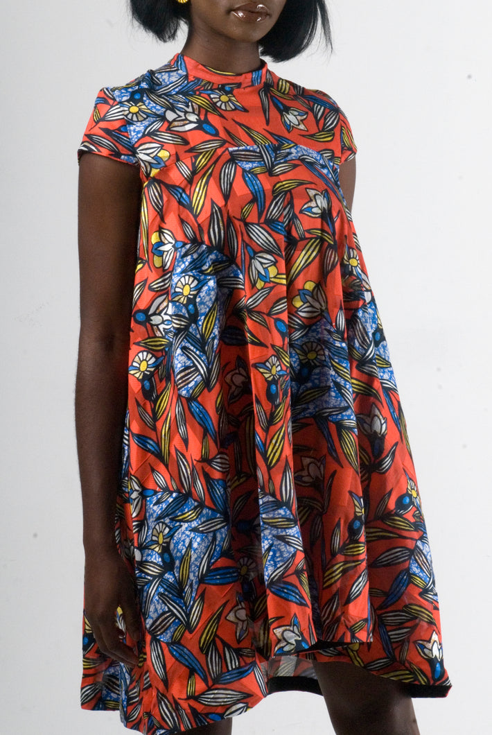Jane Orange floral dress