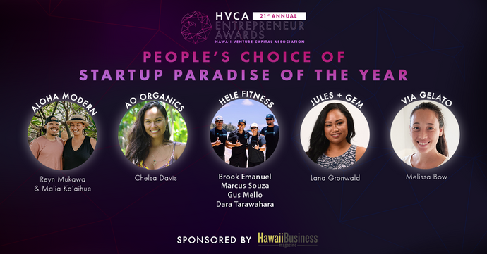 Peopleʻs Choice of Startup Paradise of the Year - Finalists