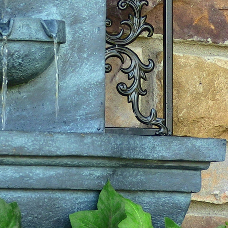 Sunnydaze florence outdoor wall water fountain weathered iron feature fountains