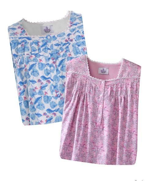 2 Piece Gift Pack - Hospital Gowns - Women s Flannel Hospital Patient Gowns  - Flanelette Open Back Nightgowns ab56c7d73