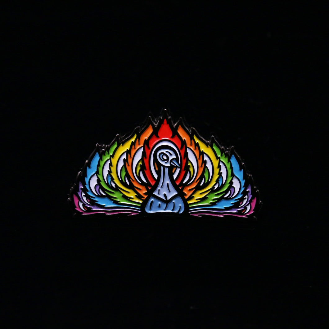 Gallery Society Peacock Pin