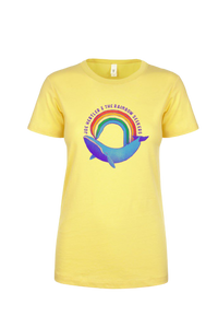Rainbow Whale T-Shirt (Ladies Cut)