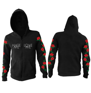 Hate Me x Love Me // Zip-Up Hoodie