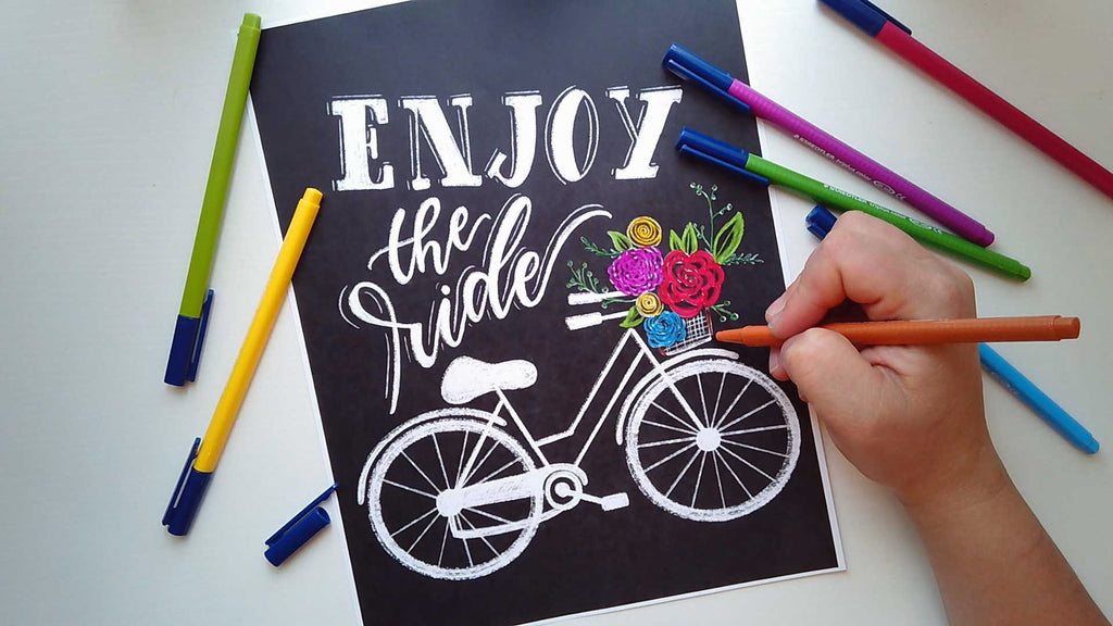 ENJOY THE RIDE COLORING PAGE