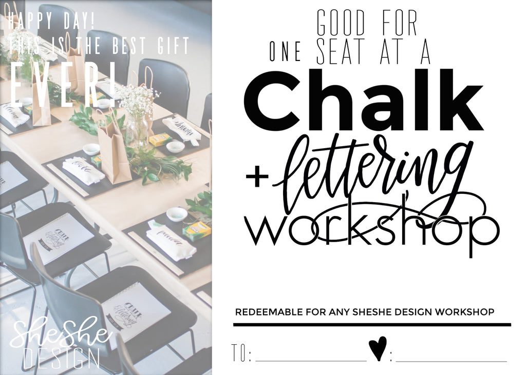CHALK & LETTERING WORKSHOP GIFT CARD
