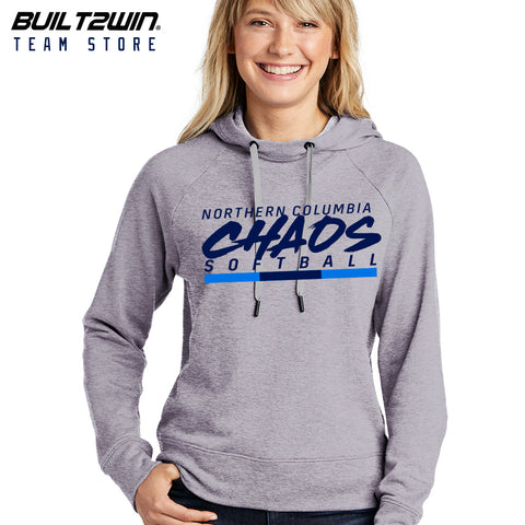 CHAOS WOMENS LIGHT CROP TERRY HOODIE