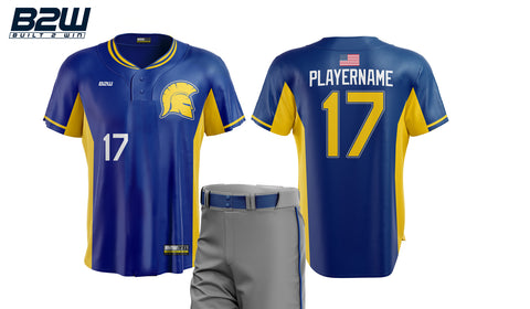 B2W ELITE 2-BUTTON SUBLIMATED JERSEY