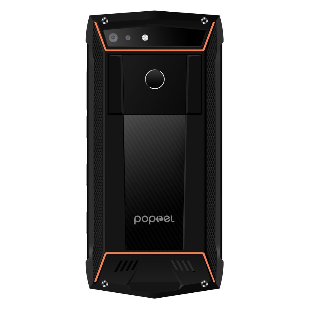 POPTEL P60 IP68 Mobile Phone - MTK6763, 6GB RAM 128GB ROM, 5.7 Inch Screen, Wireless Charge - Orange Android Phones POPTEL P60