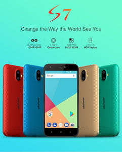 Ulefone S7 Pro Smartphone - 5.0 inch HD, Android 7.0, MTK6580 Quad Core, 2GB RAM 16GB ROM, 13MP+5MP Dual Rear Cameras - Gold Promotion Collections Ulefone S7