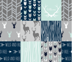 Wild and Free Patchwork Deer