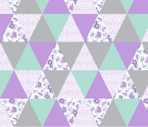Purple Floral Triangles