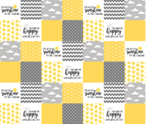 Jorgan Design Cot Quilt in Yellow, Grey and white