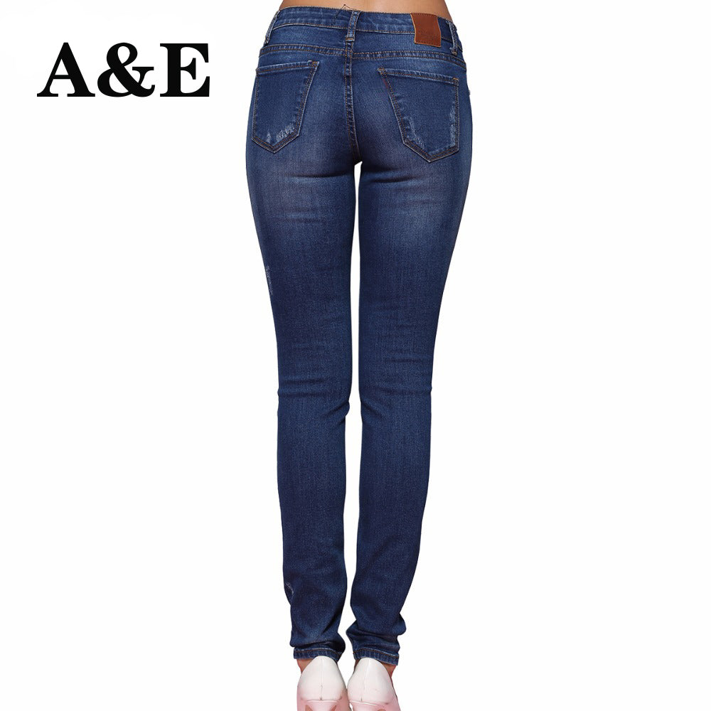 8f208aa5b3 Alice Elmer Hole Ripped Jeans Women Jeans Woman Jeans For Girls Stretch Mid  Waist