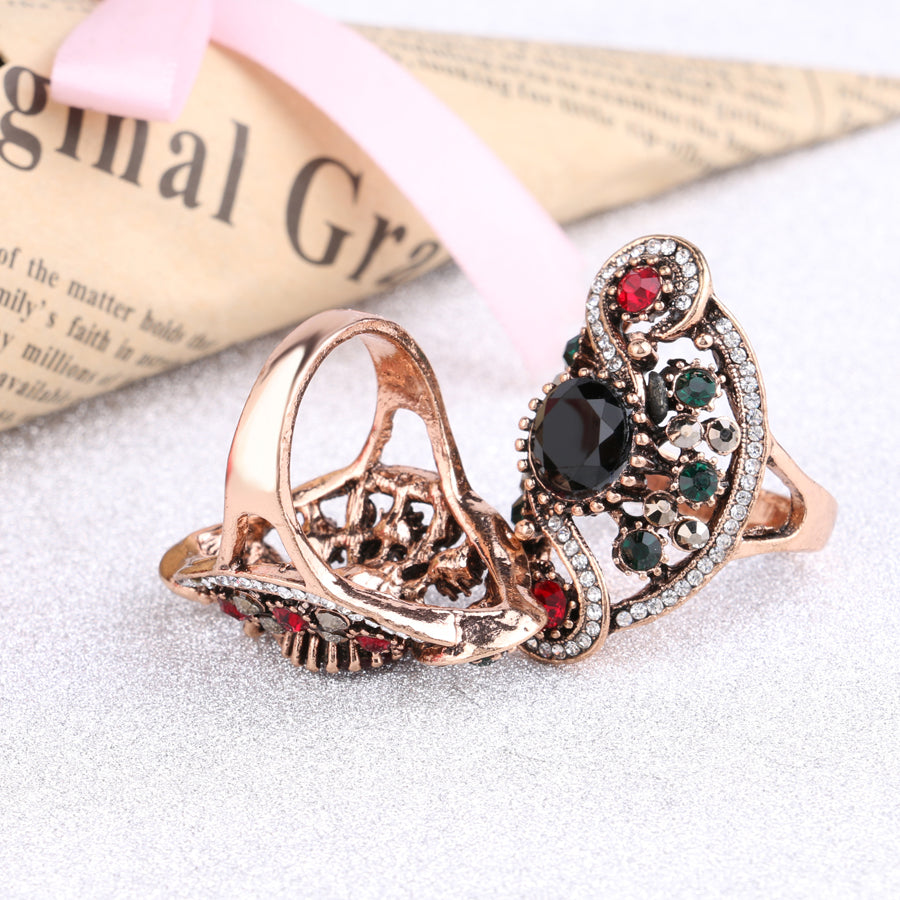 ... Hot Fashion Turkish Jewelry Dubai Color Gold Ring Red Resin Wedding  Rings For Women Best Friendu0027s ...