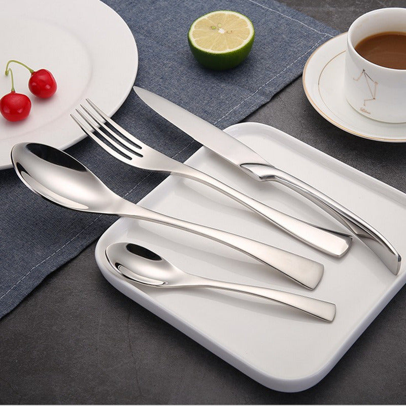 KuBac-24Pcs-Golden-Black-Silver-Dinnerware-304-Cutlery- & KuBac 24Pcs Golden Black Silver Dinnerware 304 Cutlery Set ...