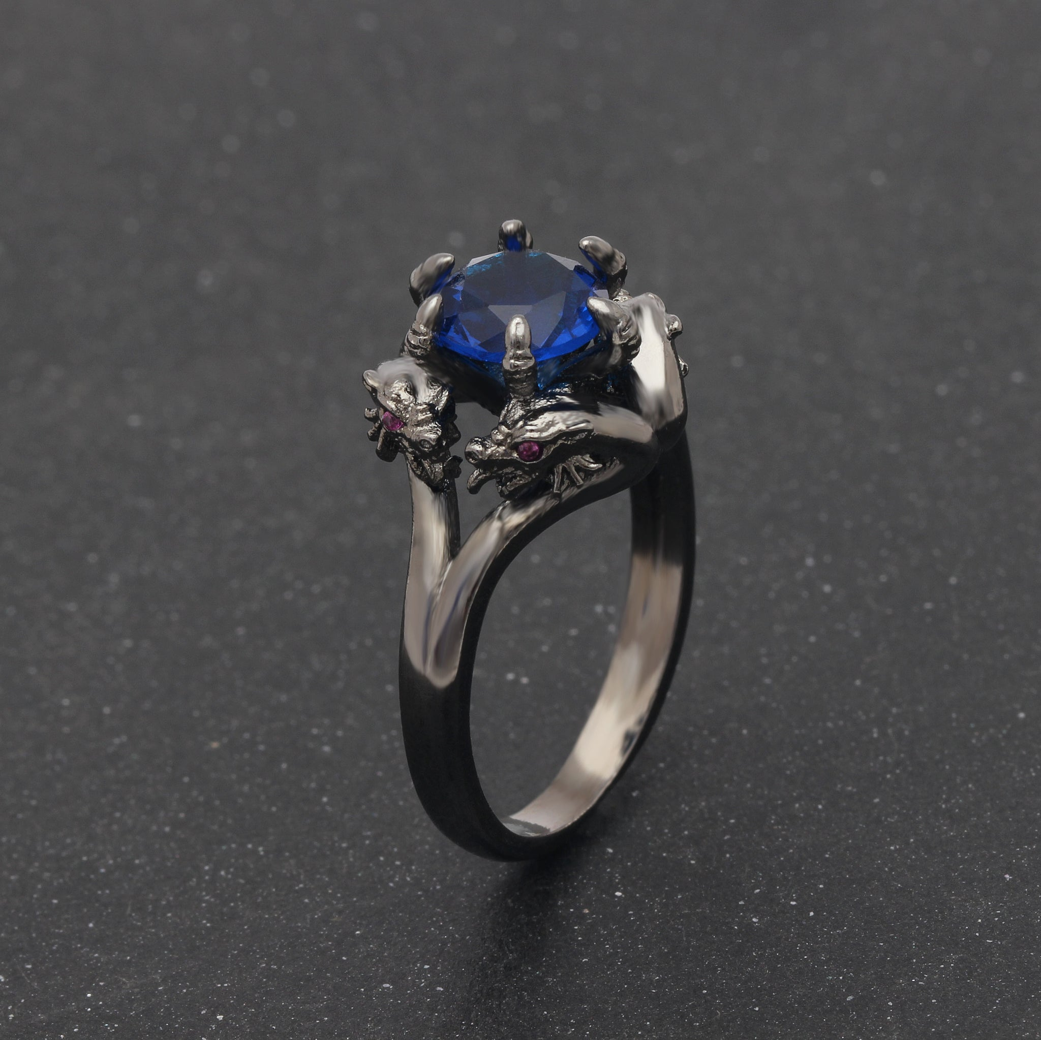 settings edwardian engagement stone ring rings blue