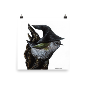Gandalf the Grey Warbler - Matte Poster Print