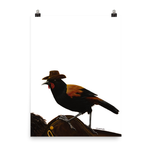 Saddleback On A Saddle Back - Matte Poster Print