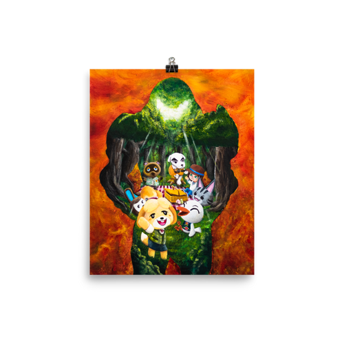 Animal Doom Crossing Eternal - Matte Poster Print