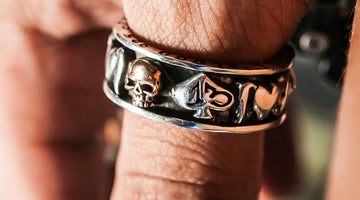 A Skull Wedding Ring - Original Gothic-Inspired Jewelry