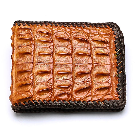 Backbone Crocodile Leather Wallet