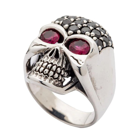sterling silver black skull jewelry