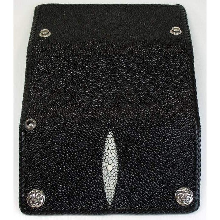 stingray leather long wallet