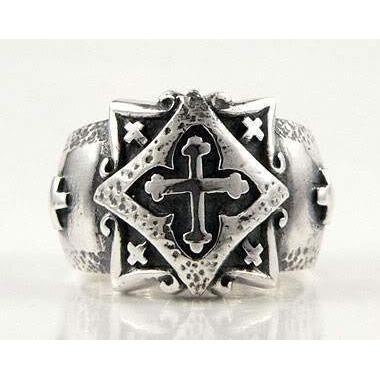 925 sterling silver celtic cross band ring
