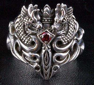 medieval dragon men rings