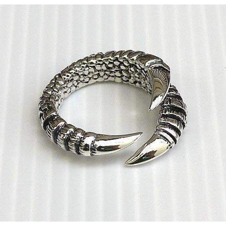 silver women's gothic claw ring