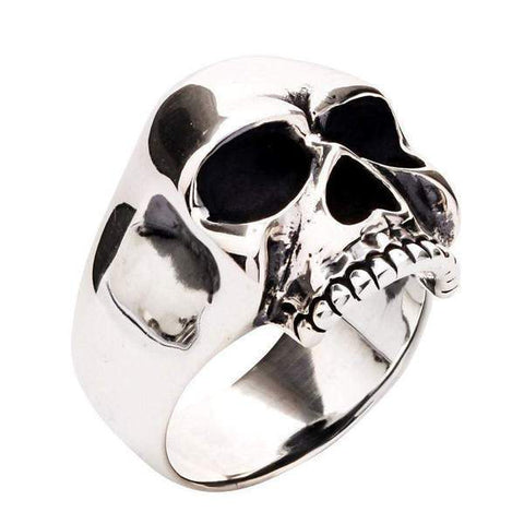 silver keith richards skull rings
