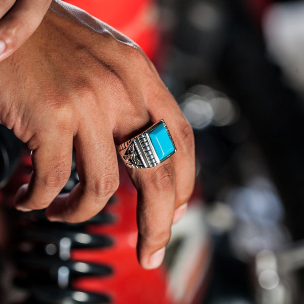 turquoise men's ring