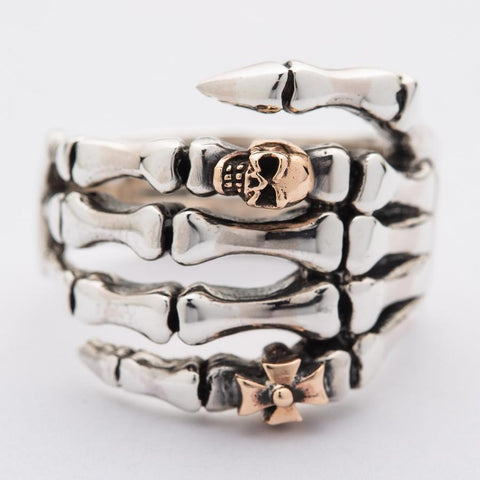 skeleton hand men ng gothic ring