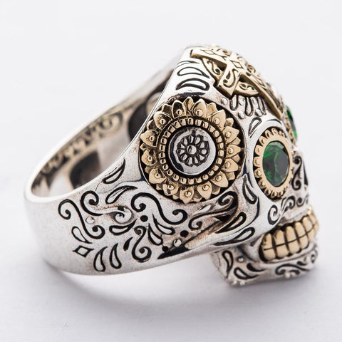 mexican sugar skull ring