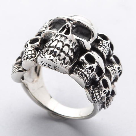sterling silver phantom skull ring