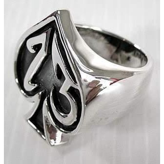 Sterling Silver Number 13 Gothic Ring