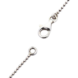 minuscola collana a catena in argento sterling 1mm